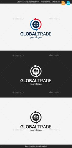 Global Trade Logo Template Vector EPS, AI. Download here: http://graphicriver.net/item/global-trade-logo-template/11367678?ref=ksioks