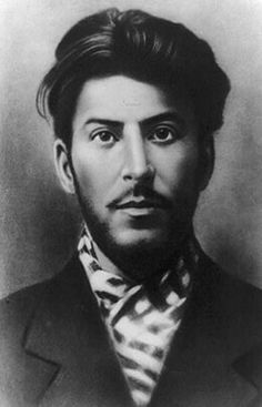 Young Joseph Stalin, the unrivalled dictator of the Soviet Union, ruled from 1928 until his death in 1953, was a handsome young man.  He came to power by a brand of totalitarianism that relied on widespread propaganda and a secret police force to eliminate opposition.