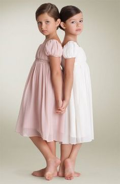 Beautiful pose for sisters or cousins.