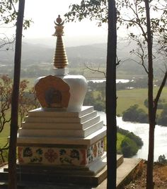 Maroochy River stupa Coast Australia, Buddhist Art, Sunshine Coast, Wall Hangings, Statues, Sculptures, River, Handmade, Design