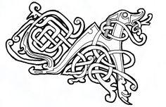 celtic dog 01 by spunkymonkey Celtic Wolf Tattoo, Celtic Tattoos, Viking Symbols, Viking Art, Celtic Patterns, Celtic Designs, Celtic Art, Irish Celtic, Celtic Drawings