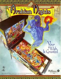 Tales of the Arabian Nights Pinball Machine (Williams, 1996) | Pinside Game Archive