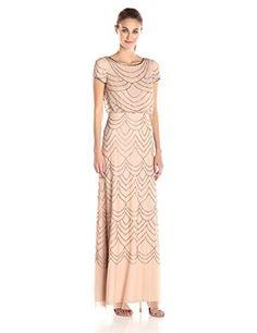 Adrianna Papell Women's Short Sleeve Blouson Beaded Gown,... https://smile.amazon.com/dp/B0157EILBI/ref=cm_sw_r_pi_dp_3XmNxb0192G0M