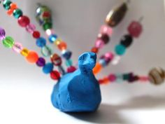 Cool project from www.kiwicrate.com/thestudio: Clay and Bead Peacock