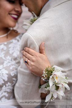 bride wedding corsage