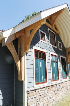 Timber Frame Exterior - Timber Frame Home - Timber Frame Accents - Homestead Timber Frames - Crossville Tennessee