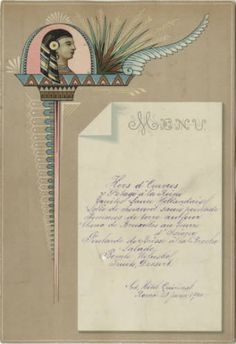 """Menu from the Grand Hôtel du Quirinal in Rome, Italy - January 21, 1890. Part of UNLV Libraries """"Menus: The Art of Dining"""" digital collection."""