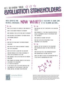 Get to Know Your Evaluation Stakeholders