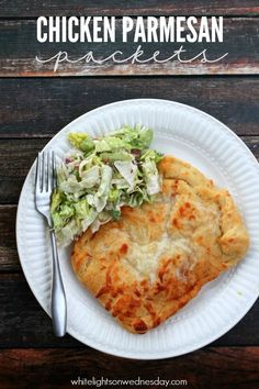 Chicken Parmesan Pockets | anightowlblog.com
