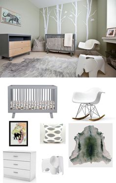 The royal nursery is going to be Africa-themed! Here is an African jungle idea we think would work perfectly for baby king George's room.