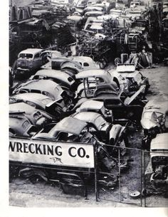 black salvage yard - if we could go back I would grab that 3 window Ford coupe Wrecking Yards, Rust Never Sleeps, Rust In Peace, Barns Sheds, Abandoned Cars, Car Crash, Barn Finds, Classic Trucks, Gas Station