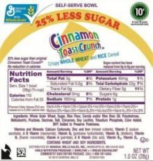 Voluntary recall of Cinnamon Toast Crunch Announced by General Mills | HULIQ
