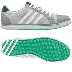size 40 aa604 258a4 Clear GreyMid GreyBright Green Adidas Ladies Adicross IV Golf Shoes.  Pinned by lorisgolfshoppe.com