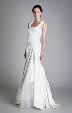 #short-sleevedwedding dresses #wedding  Carefully draped and light. #Temperly London Bridal 2013