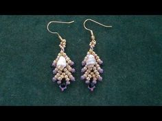 "Beading4perfectionists: ""Coral Reef"": earrings with TOHO and miyuki seedbeads beading tutorial - YouTube"