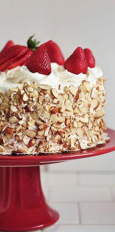Strawberry Shortcake with Almonds