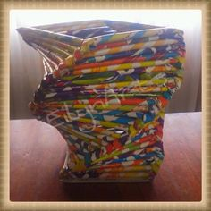 ¡¡¡Tejido espiral reciclando revistas!!!