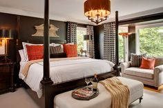Dark Wall in Romantic Bedroom Romantic Master Bedroom Ideas for Newly Married Couples House