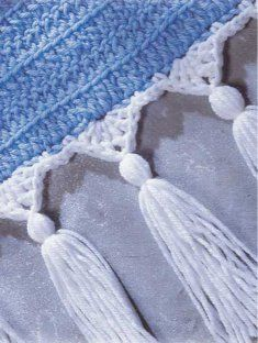 crochet edging with tassles