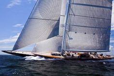 "Hanuman by Royal Huisman - modern recreation of ""Super-J"" class yacht, Endeavour II"