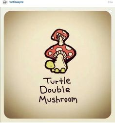 Turtle Double Mushroom by Cute Turtle Drawings, Baby Animal Drawings, Animal Sketches, Cute Drawings, Kawaii Drawings, Tiny Turtle, Turtle Love, Sheldon The Tiny Dinosaur, Tortoise Drawing