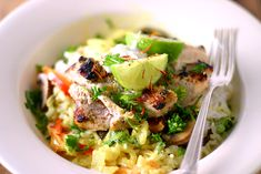 Charred Chicken in a Mild Coconut Curry Sauce