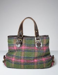 Hand Held Tweed Tote. What the dickens. A Yorkshire tweed tote with leather handles. A true Boden original.