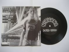 Blurry infrared cobain on the back of Nirvana mighty and vibey first single Love Buzz b/w Big Cheese