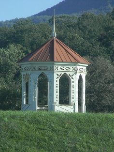 Helen, Georgia. This is a great shot of the Indian Mound Gazebo in Sautee.
