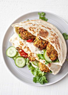 Falafel made in the air fryer is crunchy on the outside and soft in the middle. Stuff them in a pita packed with veggies and tahini sauce for an easy, quick meal! Falafel Pita, Falafel Sandwich, Pita Sandwiches, Falafel With Canned Chickpeas, Air Fryer Healthy, Tahini Sauce, Simply Recipes, Quick Meals, Food Processor Recipes
