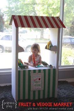 Pretend Play Fruit  Veggie Market with Ikea s SKYLTA Children s Market Stand | Mama Papa Bubba