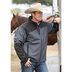 Cinch Black and Grey Soft-Shell Coat