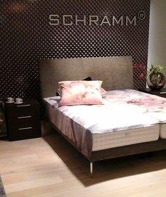 Schramm Boxspring schramm bed wood gala 18 s design wenge kleur poot 20