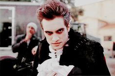 Brendon Urie looking like a vampire for The Ballad of Mona Lisa