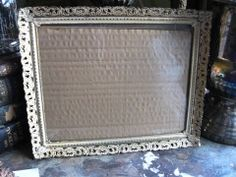 Filigree Metal Frame Tray Gold Tone White by GoodCharmVintage, $12.99