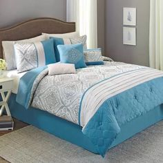 Cheap Blue And Brown Bedding Sets Comforter Brown Bedding And - Better homes and gardens comforter sets
