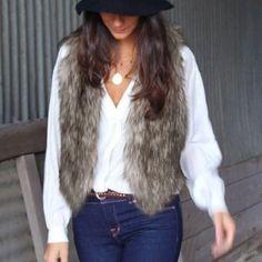 Ladies Faux Fur Vest (Short)