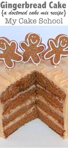 The most delicious Gingerbread Cake! A Doctored Cake Mix Recipe by MyCakeSchool.com!