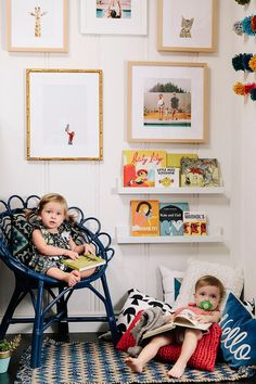 Loving our Mandalay, Marin, and Irvine frames in this sweet little reading nook | via @jenpinkston