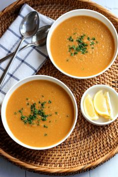 Red Lentil and Carrot Soup with Lemon | Green Valley Kitchen