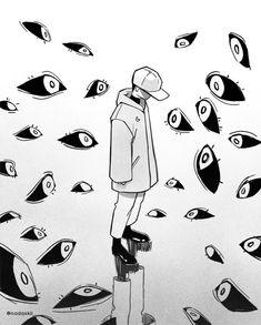 É assim que SAD se sente, cara - # # homem # triste # sente - Zeichnungen traurig - Art Inspo, Inspiration Art, Art Anime, Anime Kunst, Art Triste, Art Du Croquis, Art Mignon, Arte Obscura, Vent Art
