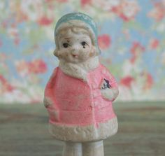 Vintage Bisque Frozen Charlotte Doll Girl in by TinselandTrinkets