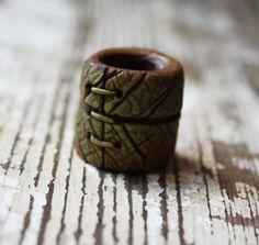 Leaf like dreadlock bead by feythcrafts on Etsy, $10.00