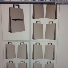 Paper bag backs and fronts ready to design/ add graphics