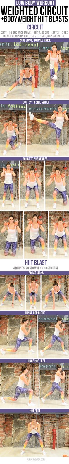 Lower Body Circuit Workout with HIIT Bursts