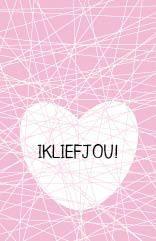 Cadeaulabel Love roze