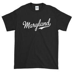 Maryland Script Font Short-Sleeve T-Shirt