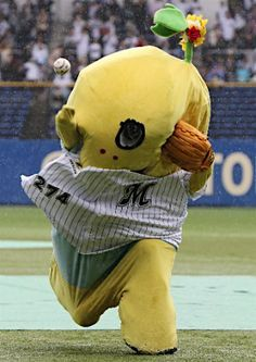 Funassii at the baseball event@ふなっしーの始球式=プロ野球