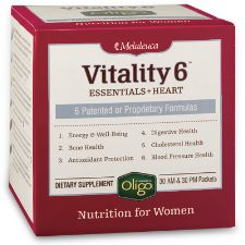 Vitality 6® Women or Men (Essentials + Heart) - 6 essential supplements every woman needs for daily vitality plus cardiovascular, cholesterol, and blood pressure support. Powered by Oligo for maximum absorption and antioxidant protection...