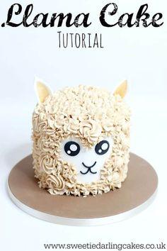 6 Awesome Llama Cakes - diy Thought Cupcakes, Cupcake Cakes, Shoe Cakes, Photos Folles, Llama Birthday, Diy Birthday Cake, Animal Cakes, Buttercream Recipe, Salty Cake